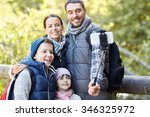 travel  tourism  hike ... | Shutterstock . vector #346325972