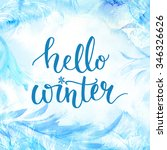 hello winter banner with... | Shutterstock . vector #346326626