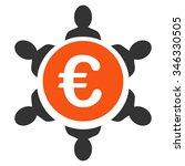 euro collaboration glyph icon.... | Shutterstock . vector #346330505
