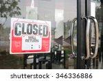 Sign Closed In Restaurant ...