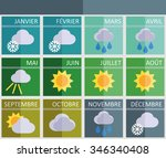 calendar of the times of year... | Shutterstock .eps vector #346340408