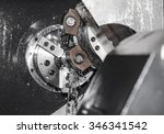 rotating shiny metal part of... | Shutterstock . vector #346341542