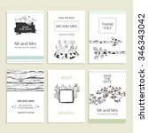 hand drawn collection of... | Shutterstock .eps vector #346343042