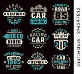 car repair badges. graphic... | Shutterstock .eps vector #346347812