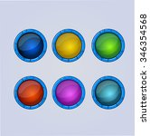 set of vector frames  elements...