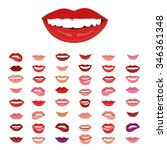 female lips with a smile. the... | Shutterstock .eps vector #346361348