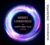 shining christmas bokeh...   Shutterstock .eps vector #346364906