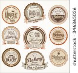bakery retro vintage badges... | Shutterstock .eps vector #346365026