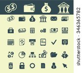 money  cash icons  signs vector ... | Shutterstock .eps vector #346365782