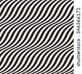 wavy stripes seamless pattern... | Shutterstock .eps vector #346366172