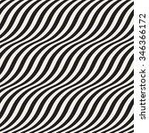 wavy stripes seamless pattern... | Shutterstock .eps vector #346366172
