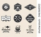 set of badges  labels and logos ...   Shutterstock .eps vector #346368302