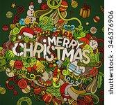 merry christmas hand lettering... | Shutterstock .eps vector #346376906