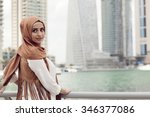 girl in hijab | Shutterstock . vector #346377086