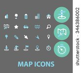 map  location  route  icons ... | Shutterstock .eps vector #346386002