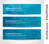 set of trendy blue vector... | Shutterstock .eps vector #346390568
