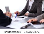 group of business people... | Shutterstock . vector #346392572