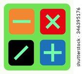 vector of calculator symbol or... | Shutterstock .eps vector #346395176