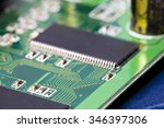 electronic microcircuit and... | Shutterstock . vector #346397306
