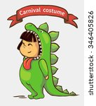 small girl in carnival suit.... | Shutterstock .eps vector #346405826