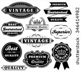 vintage label set   set of... | Shutterstock .eps vector #346414982