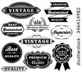vintage label set   set of... | Shutterstock .eps vector #346414982