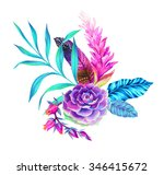 a beautiful floral bouquet with ... | Shutterstock . vector #346415672