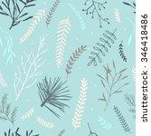 vector seamless winter cute...   Shutterstock .eps vector #346418486