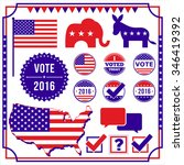 voting and election element set ... | Shutterstock .eps vector #346419392