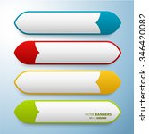 set of 3d banners template with ... | Shutterstock .eps vector #346420082