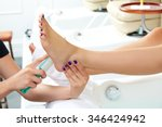 pedicure dead skin remover foot ... | Shutterstock . vector #346424942
