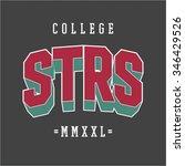 varsity college university... | Shutterstock .eps vector #346429526