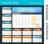 desk calendar for 2016 year.... | Shutterstock .eps vector #346433336