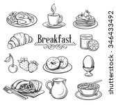 hand drawn decorative icons... | Shutterstock .eps vector #346433492