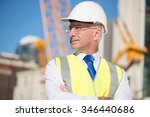 confident construction engineer ... | Shutterstock . vector #346440686