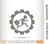 a man with a briefcase running...   Shutterstock .eps vector #346445498
