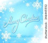blue merry christmas card | Shutterstock .eps vector #346445552