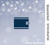 purse vector icon. wallet...   Shutterstock .eps vector #346445948
