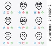 smile pointers icons. happy ... | Shutterstock . vector #346460042