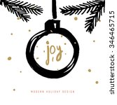christmas greeting card with... | Shutterstock .eps vector #346465715