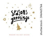 christmas greeting card with... | Shutterstock .eps vector #346465766