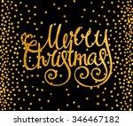 gold textured handwritten... | Shutterstock .eps vector #346467182