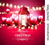 christmas red greeting card... | Shutterstock .eps vector #346467866