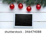 beautiful wooden christmas... | Shutterstock . vector #346474088