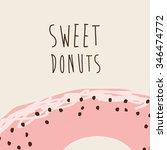 sweet donuts design  vector...   Shutterstock .eps vector #346474772
