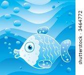 cute little fish  vector... | Shutterstock .eps vector #3464772