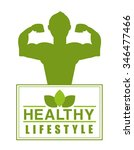 healthy lifestyle design ... | Shutterstock .eps vector #346477466