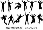 12 male jumping poses | Shutterstock .eps vector #3464784
