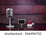 vintage microphone on old... | Shutterstock . vector #346496732