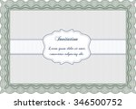 retro vintage invitation.... | Shutterstock .eps vector #346500752